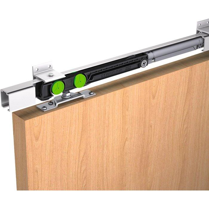 Paire de garnitures de porte coulissante SAF - Avec amortisseur ferme-porte - Capacité 40 kg