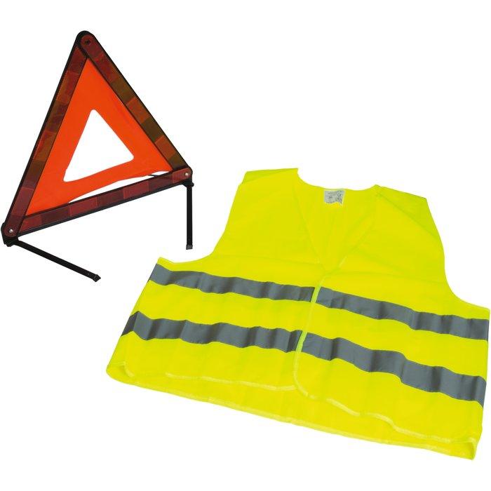 Kit de signalisation réfléchissant pour véhicule - Triangle - Gilet