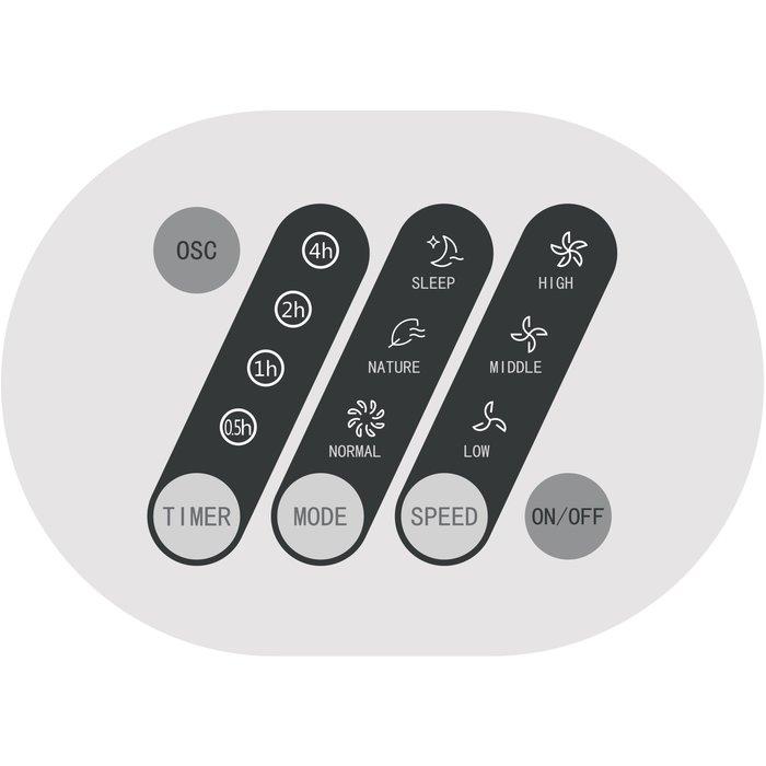 Ventilateur colonne oscillant - Puissance 40 W - Noir-3