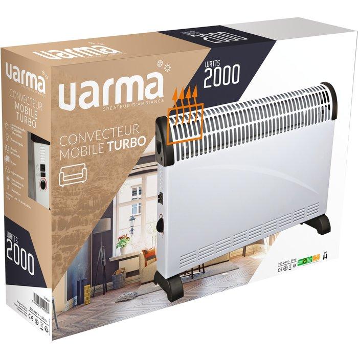 Convecteur électrique mobile - Turbo ventilation - Puissance 750 / 1250 / 2000 W-5