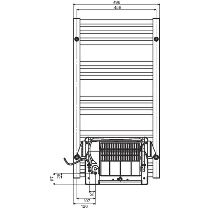Sèche-serviette électrique soufflant Cala Air - Puissance 750 / 1000 W-1