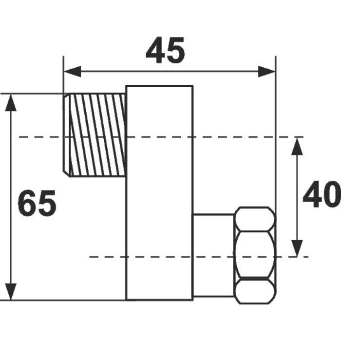 Raccord excentré - Mâle / Femelle - Excentration de 40 mm - Écrou tournant-1