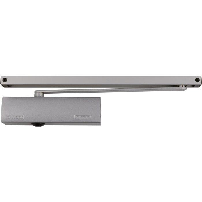Ferme-porte TS Wood -  Bras à glissière - Force 3 - Argent