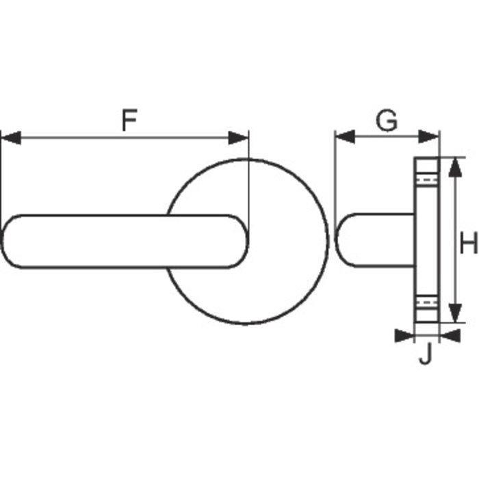 Poignée de porte sur rosace EST.ZG 51 - Double - Mat-2