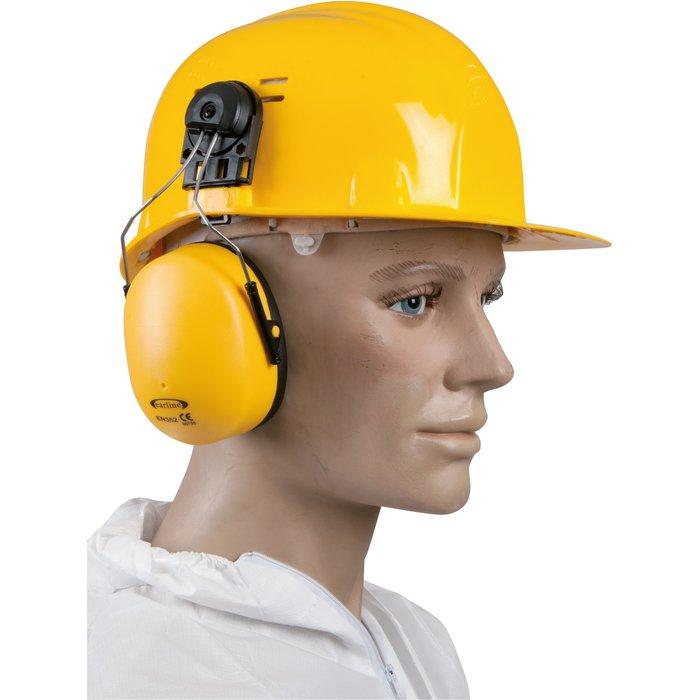 Coquille anti-bruit pour casque de chantier - Avec adaptateur - Réduction sonore 23 dB-3