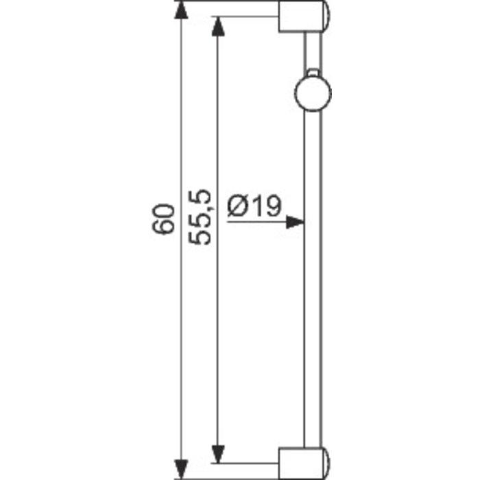 Barre de douche - Diamètre tube 19 mm - Curseur à bouton-1