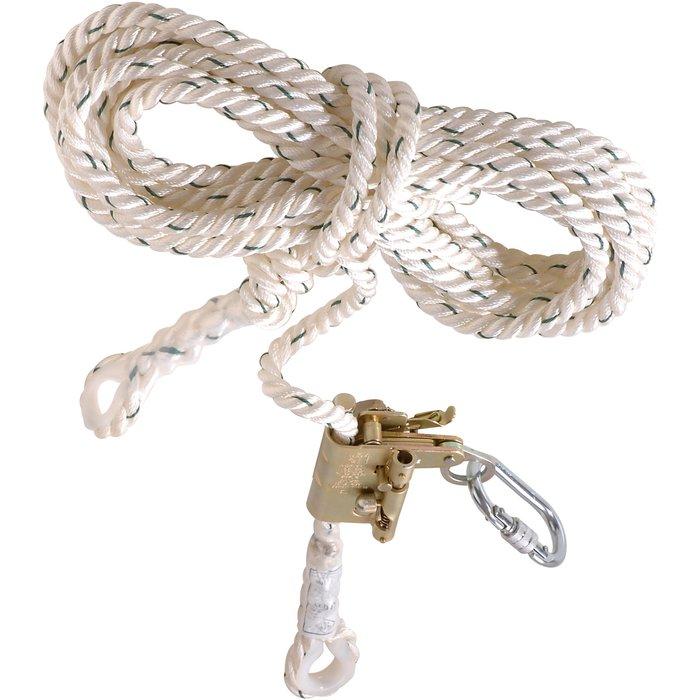 Tendeur de longe antichute - Fixé sur corde - Longueur 10 m-1