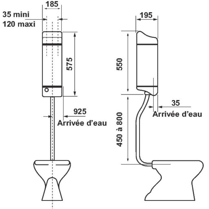 Réservoir WC Joker 500-1