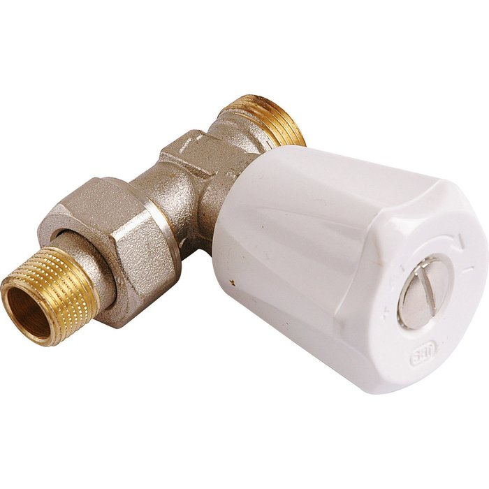 Robinet de radiateur - Simple réglage M22 - À visser - Droit - Mâle-1