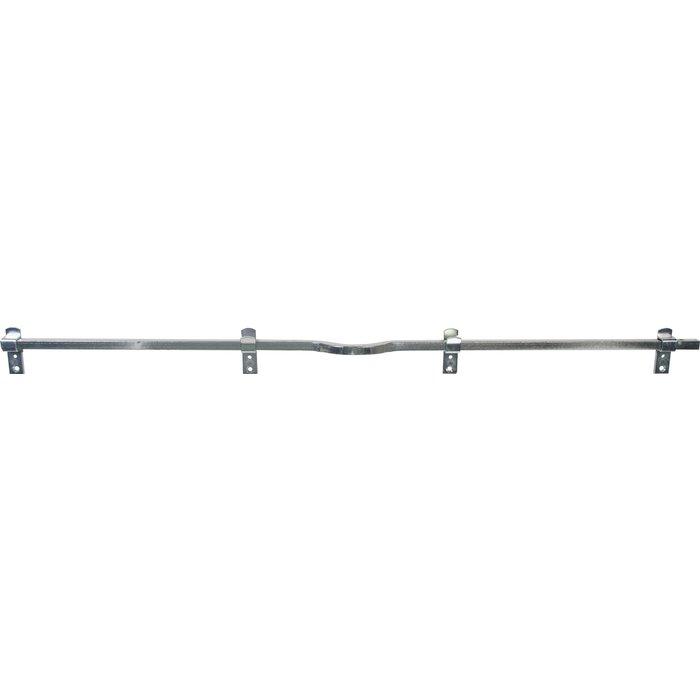 Barre de sécurité carrée - Cadenassable - Zingué blanc - Longueur 1,2 m