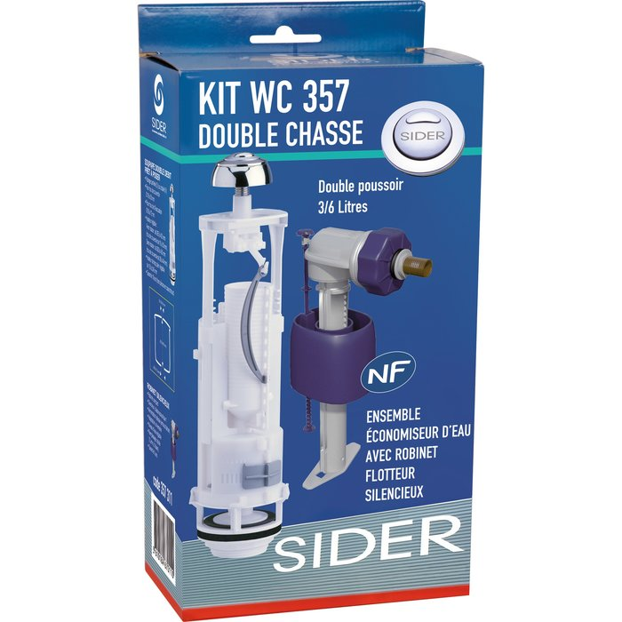 Kit mécanisme de WC 357 - Poussoir double débit-4