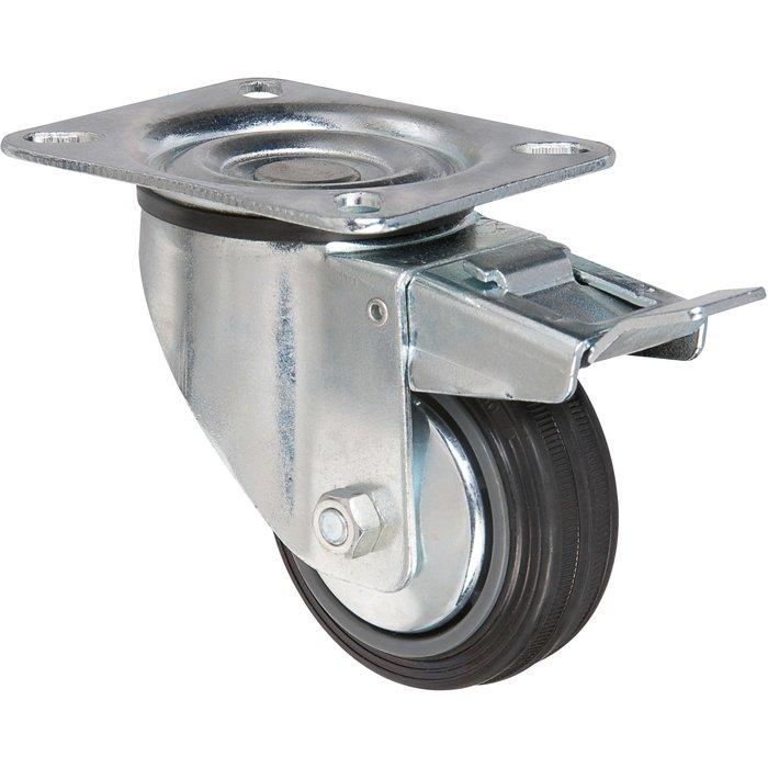 Roulette pivotante série S2C AF - Avec frein