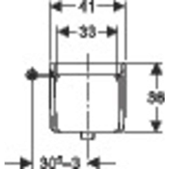 Réservoir WC haut - À poussoir pneumatique-1