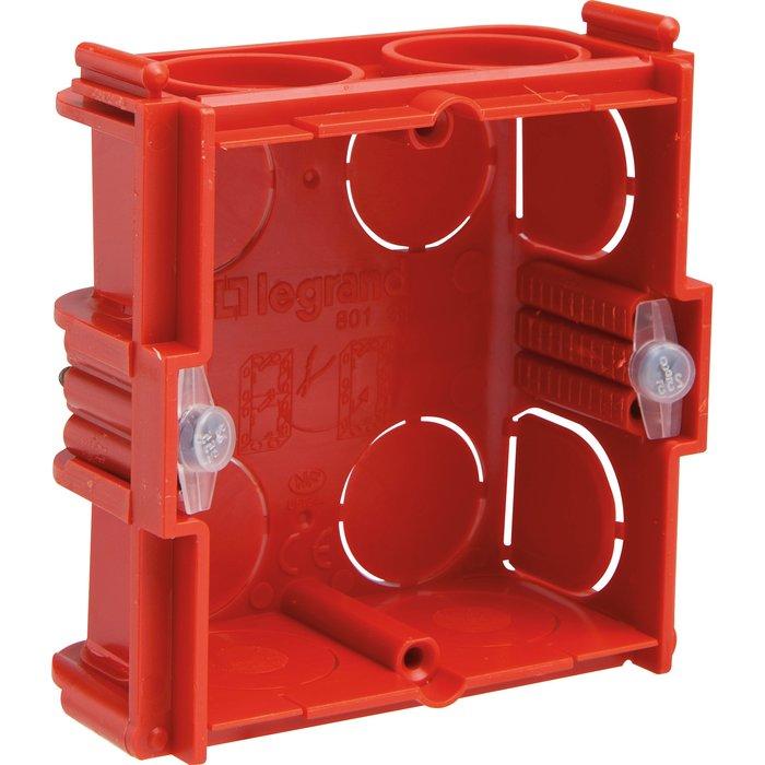 Boîte d'encastrement carrée Batibox - Maçonnerie - 1 poste