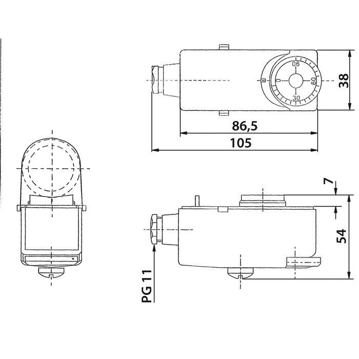 Aquastat d'applique à réglage externe - Température 0 à 90°C-1