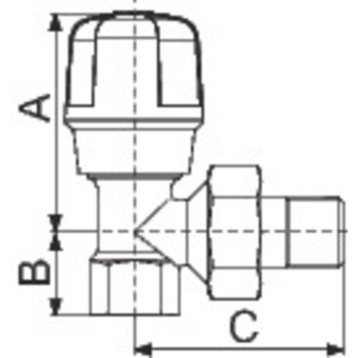 Robinet de radiateur manuel - Équerre - Femelle-1