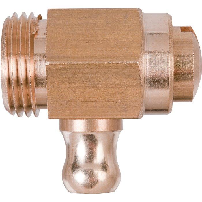 Robinet de vidange de radiateur - À tétine sans presse étoupe-1