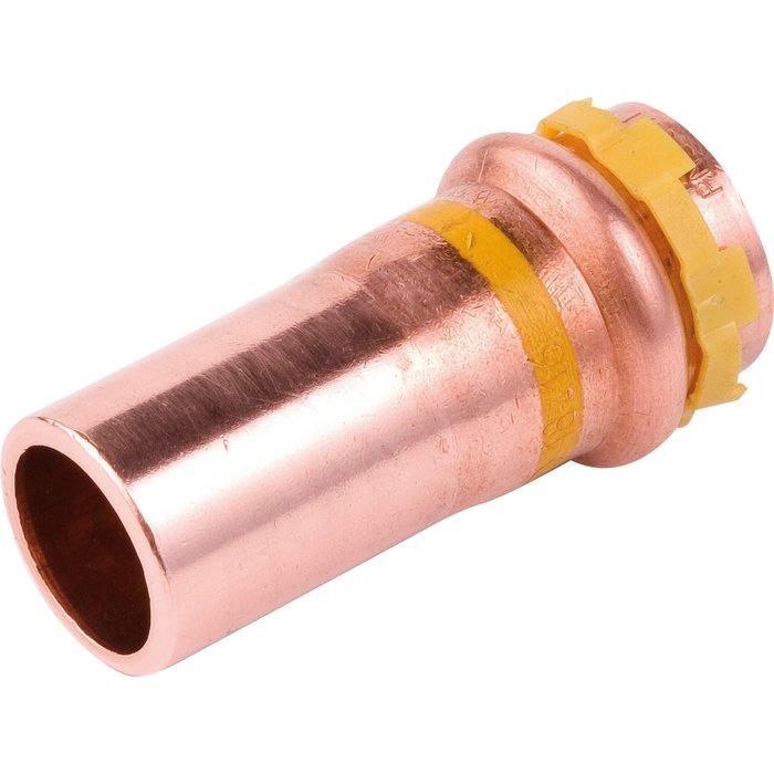 Raccord réduit à sertir - Spécial gaz - Cuivre - Mâle / Femelle-1