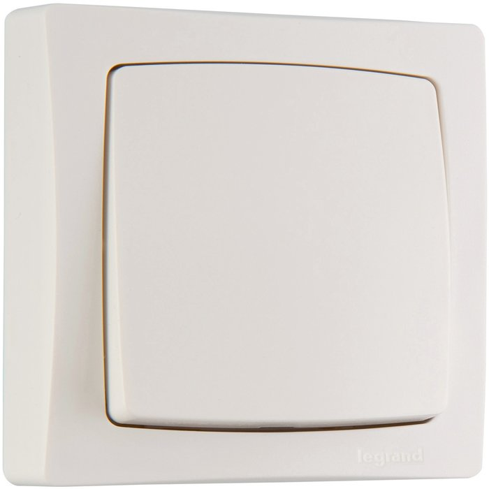 Interrupteur va-et-vient 10 AX - Appareillage en saillie - Complet - Blanc-1