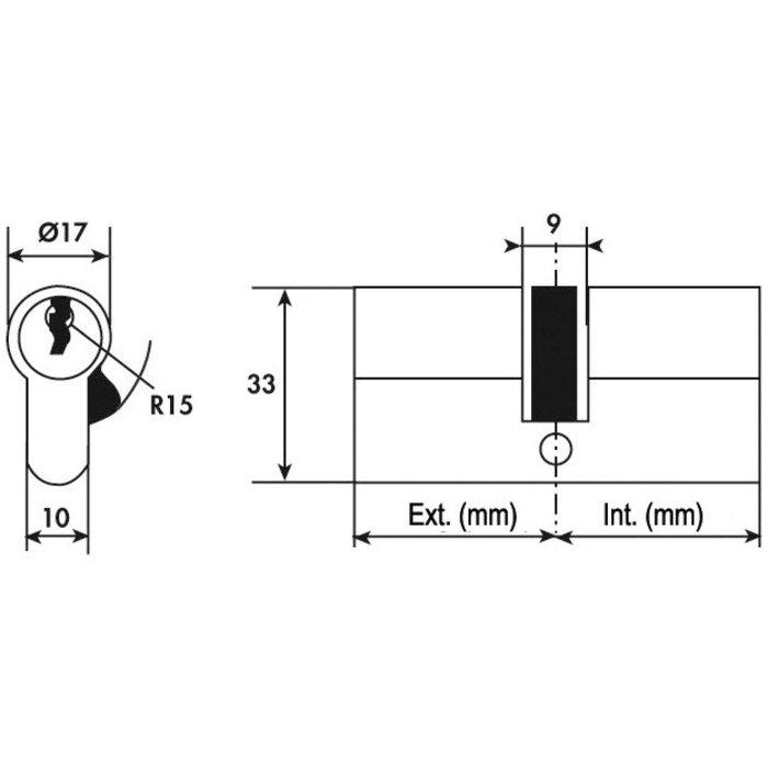 Cylindre 2 entrées V5 varié laiton-1