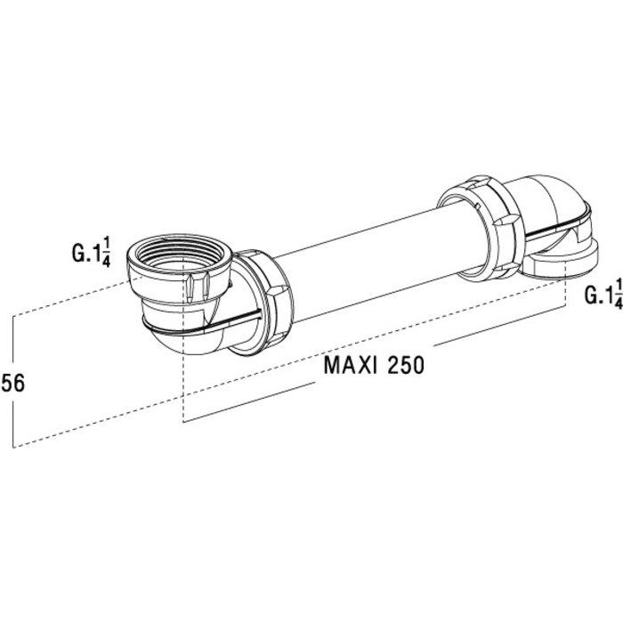 Tubulure de lavabo Easyphon - Spécial gain de place-1