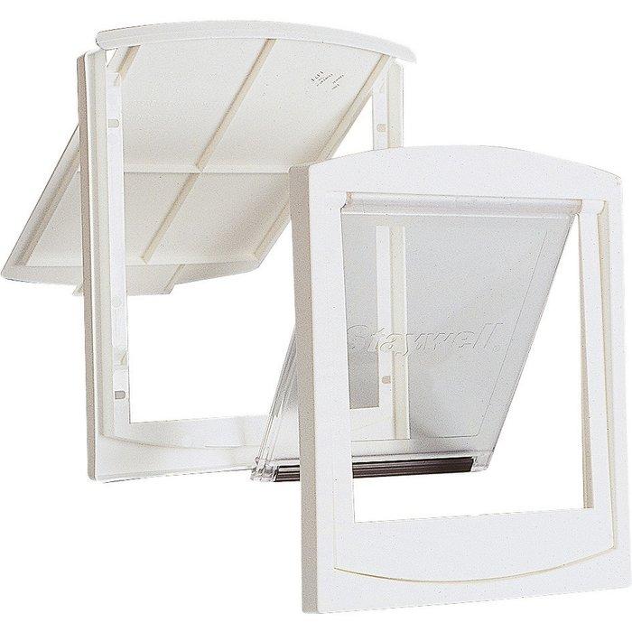 Chatière pour porte en bois / métal et mur - Dimension 238 x 197 mm