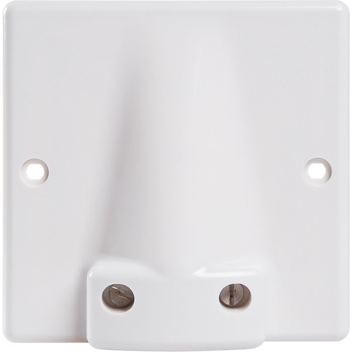 Sortie de câbles pour plinthes - Dimension 95 x 95 mm - Diamètre câble 19 mm-1