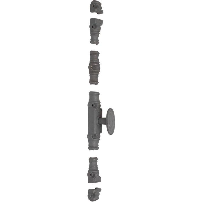 Crémone de fenêtre forte type RY 59 - À bouton - Longueur 158 mm