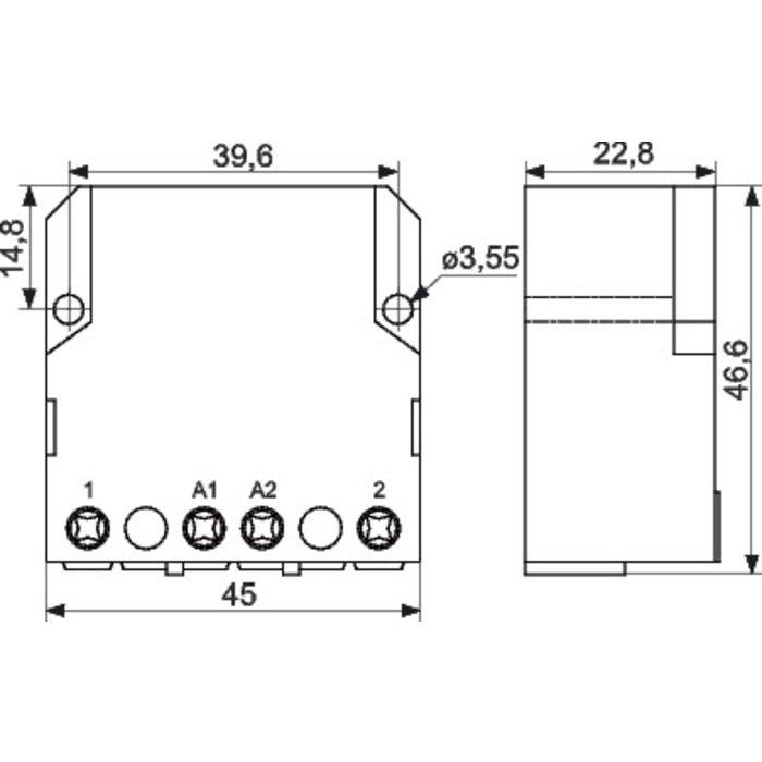 Télérupteur unipolaire - Encastrable - Tension 230 V - Intensité 10 A-1
