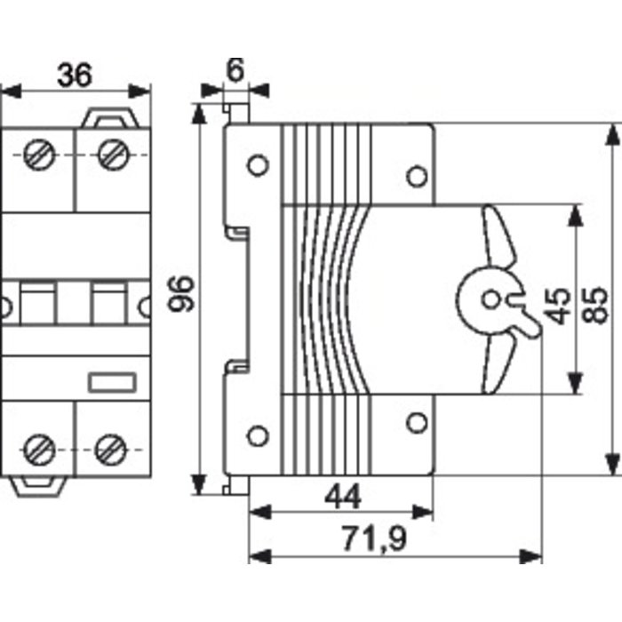 Disjoncteur différentiel - Compact - 2 pôles - Sensibilité 30 mA-1