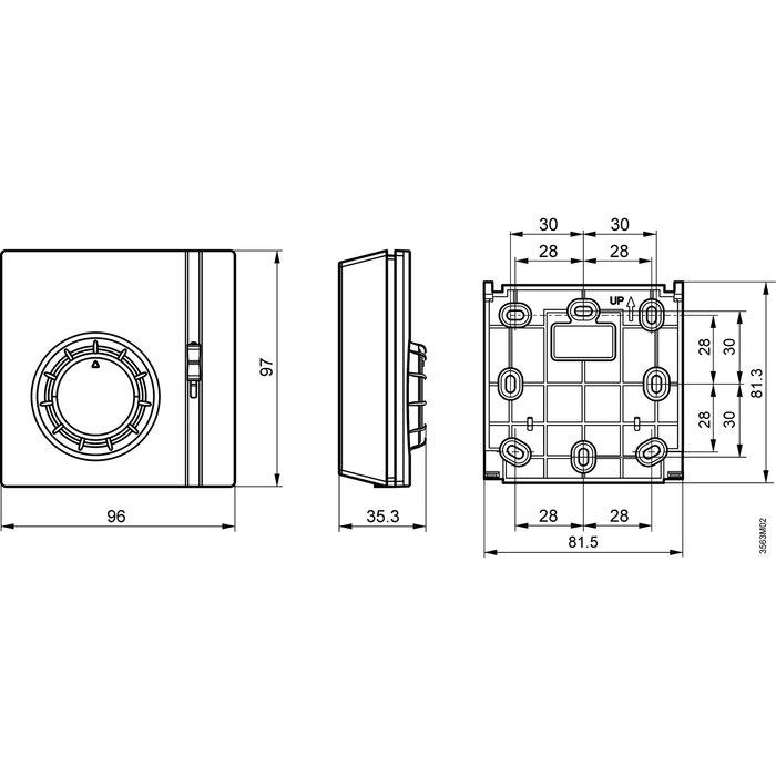 Thermostat d'ambiance RAA21 - Température 8 à 30°C-1