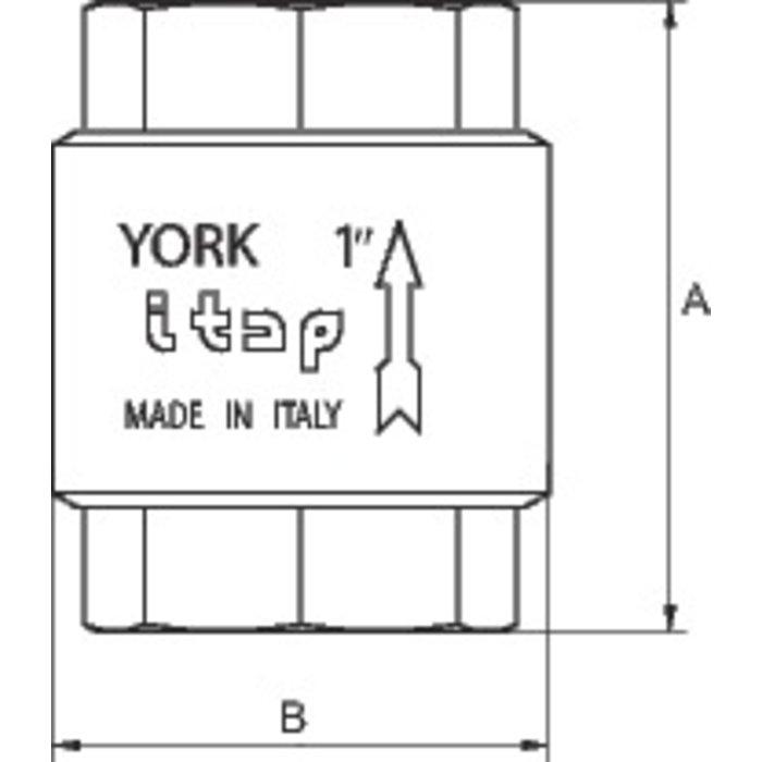 Clapet York universel - Laiton-1