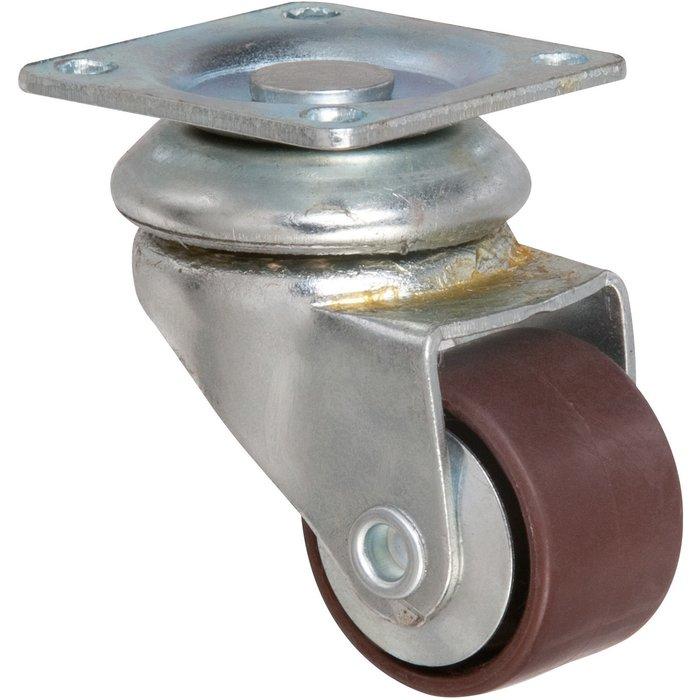 Roulette ameublement pivotante à platine Miniforte