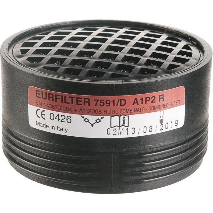 Galette filtrante anti-poussière et anti-gaz vapeur - Pour demi-masque respiratoire
