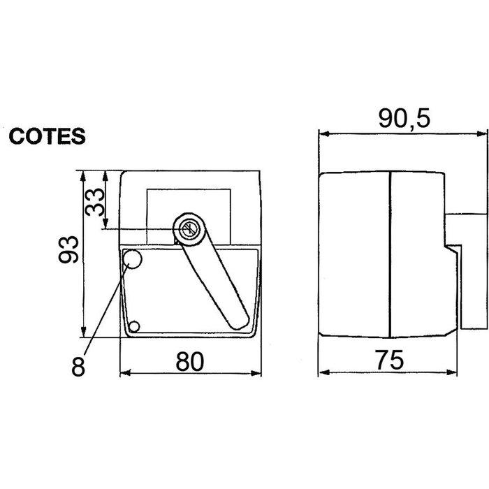 Servomoteur électrique pour vanne termomix - Tension 230 V-1