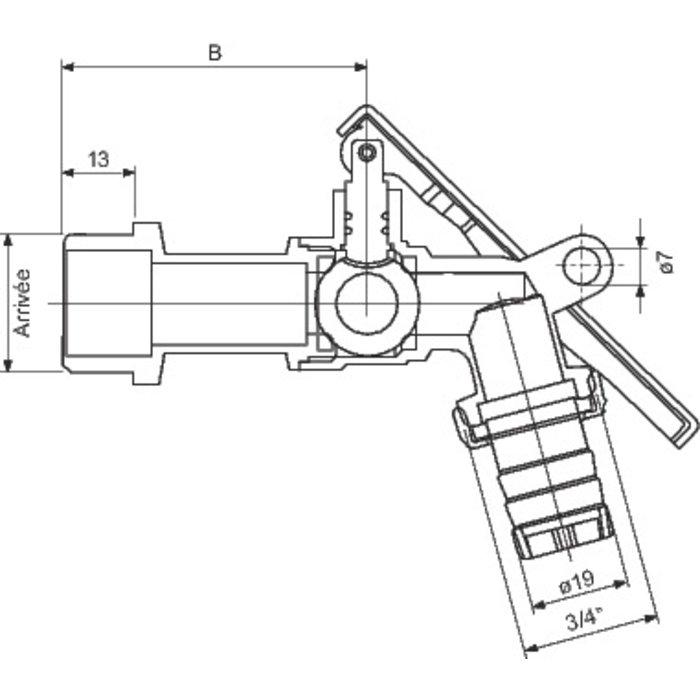 Robinet de puisage cadenassable-1