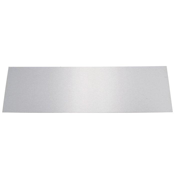 Plinthe de bas de porte plate - Inox brillant