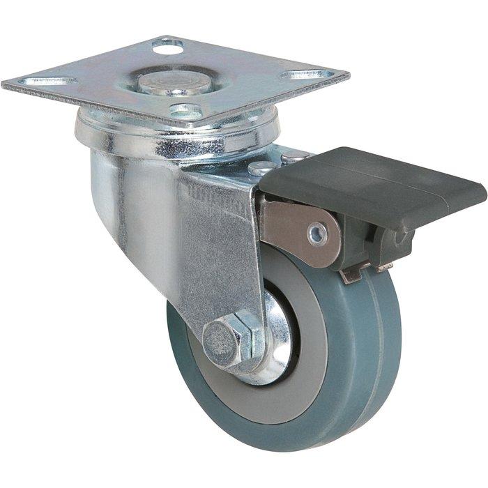 Roulette pivotante série S14 AF - À platine avec frein