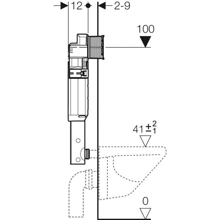 Réservoir WC à encastrer Sigma-2