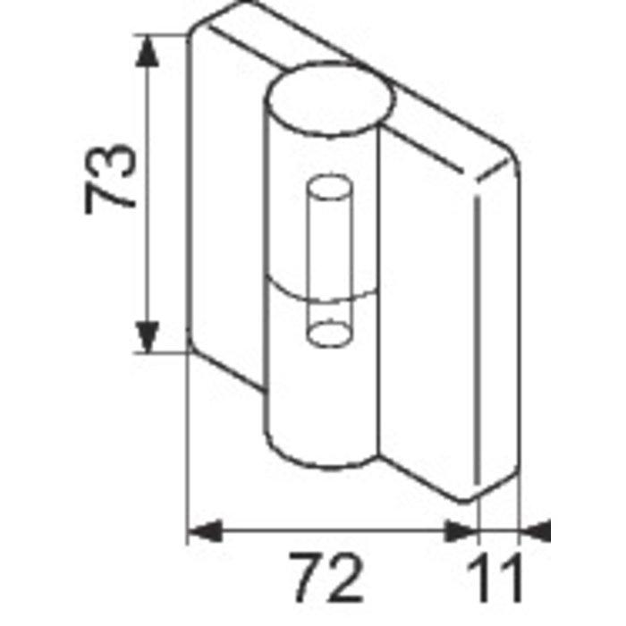 Paumelle sans ressort NY.TB 78 pour cloison modulaire-1