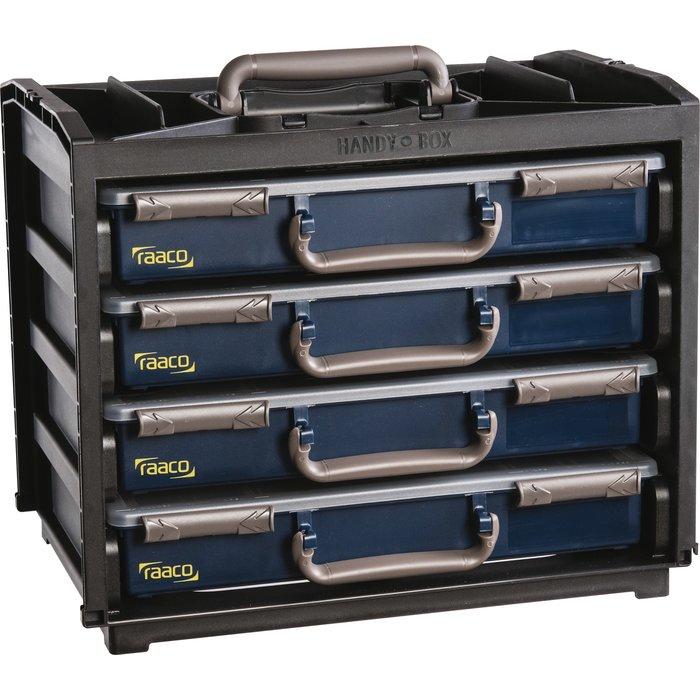 Casier de rangement avec 4 malettes Handybox 55