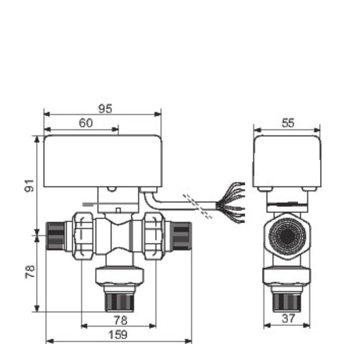 Vanne directionnelle à sphère motorisée-3