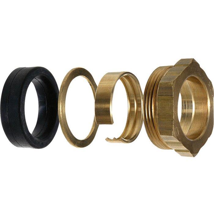 Garniture pour raccordement à serrage extérieur - Pour tube polyéthylène - Laiton - Femelle-1