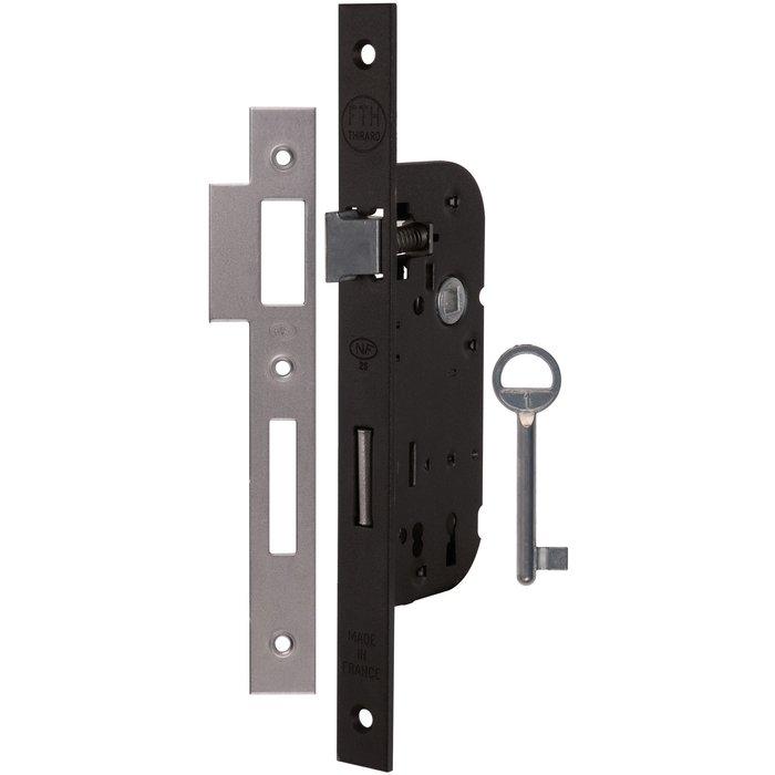 Serrure à larder Optimum - Bouts carrés - Noir - Axe 40 mm-2