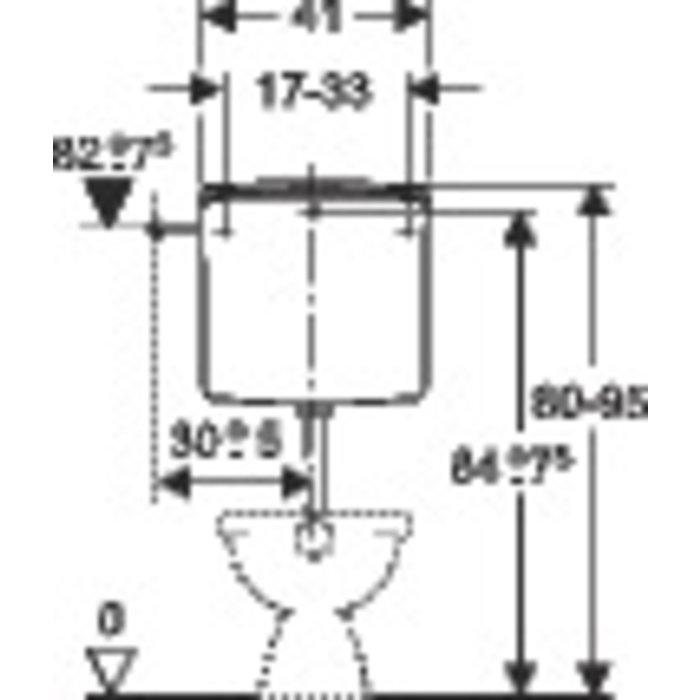 Réservoir WC AP 140 - Mi-hauteur - Simple débit-1