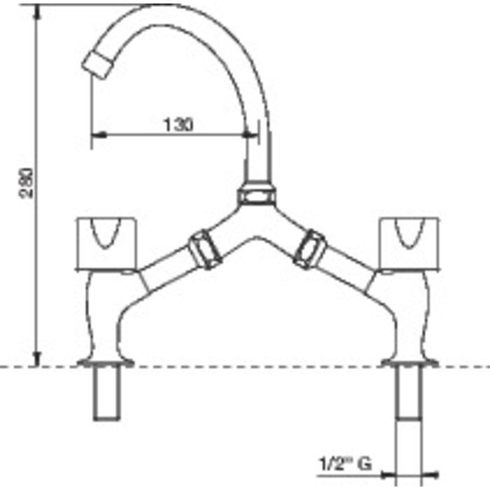 Mélangeur lavabo Equinoxe - 2 trous-1
