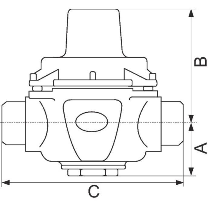 Réducteur de pression n°11 - Mâle / Mâle - 46951-1
