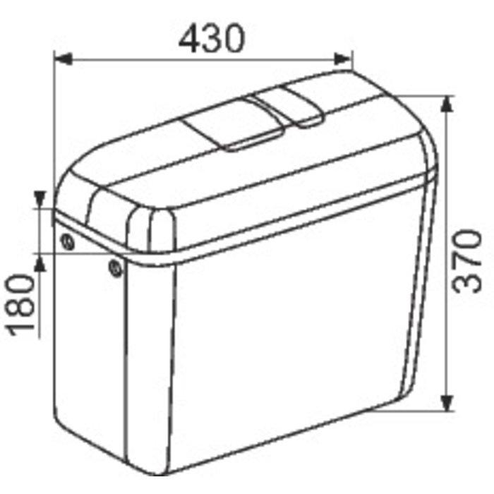 Réservoir WC attenant F 6000 - Double débit-1