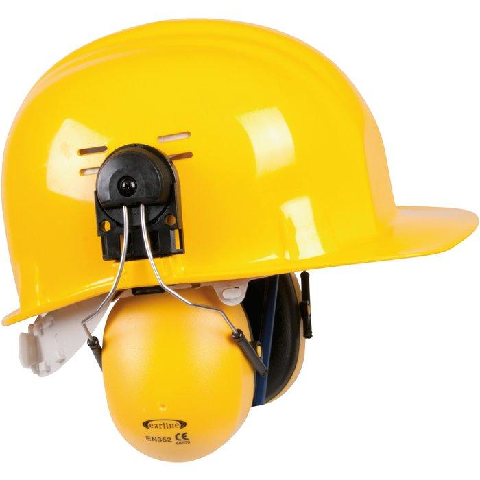 Coquille anti-bruit pour casque de chantier - Avec adaptateur - Réduction sonore 23 dB-2