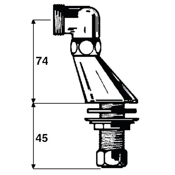 Colonnette - Mâle / Mâle - Excentration de 22 mm-1